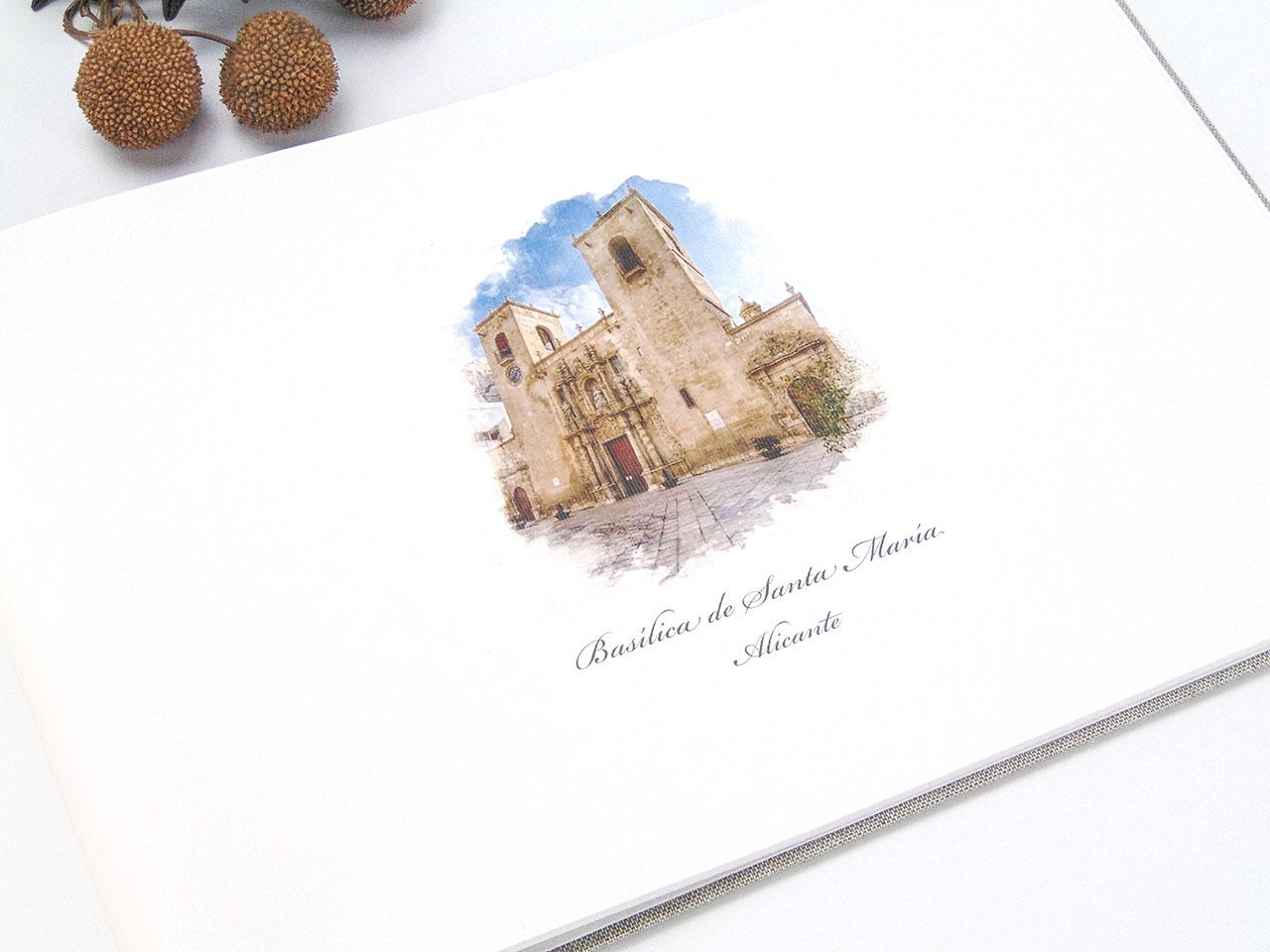 Página personalizada <br>con dibujo de la iglesia