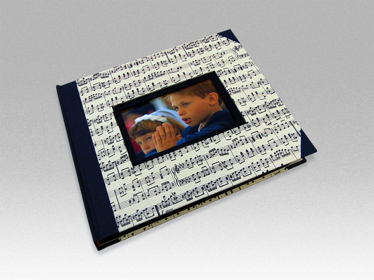 Álbum de foto y firmas musical <br> para comuniones