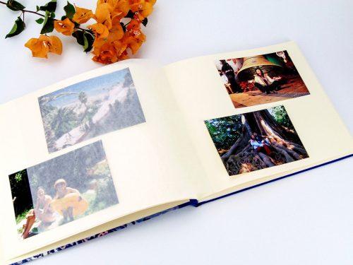 Álbum de fotos azul con mandala 2. Mardepapel