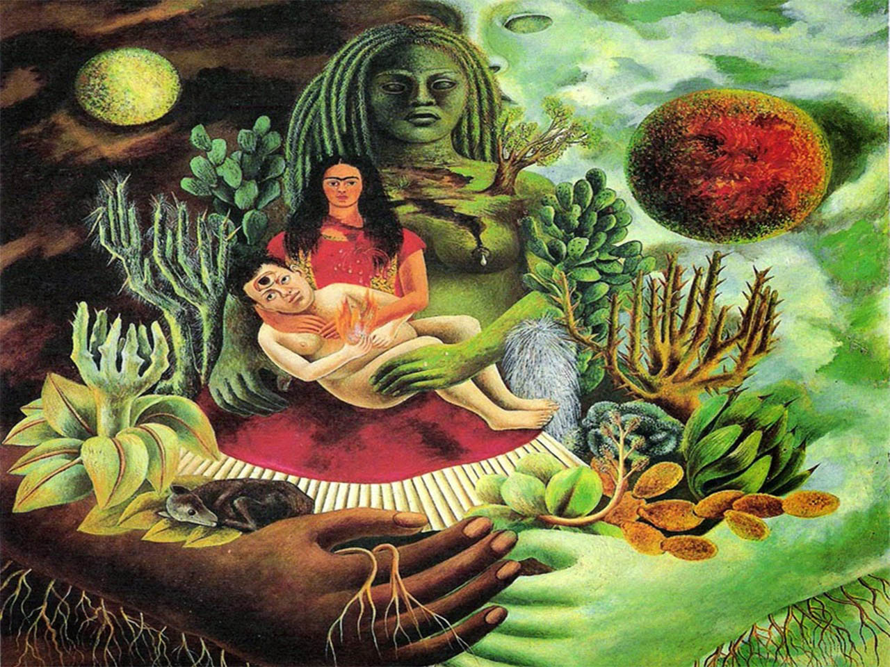 Frida Khalo<br> El abrazo de Amor del Universo. 1949