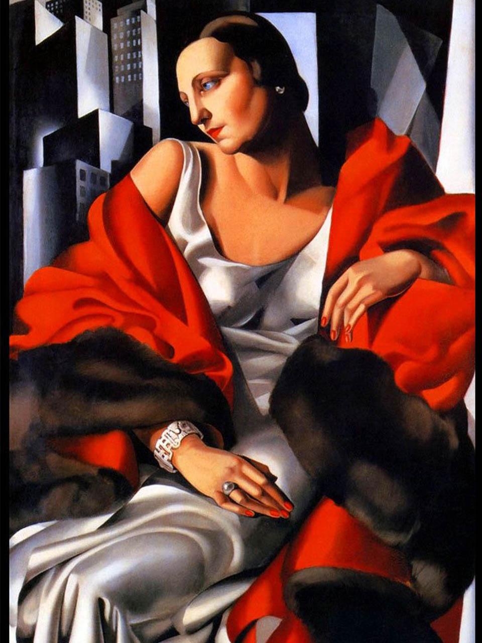 Tamara de Lempicka <br>Retrato de Madame Boucard 1931