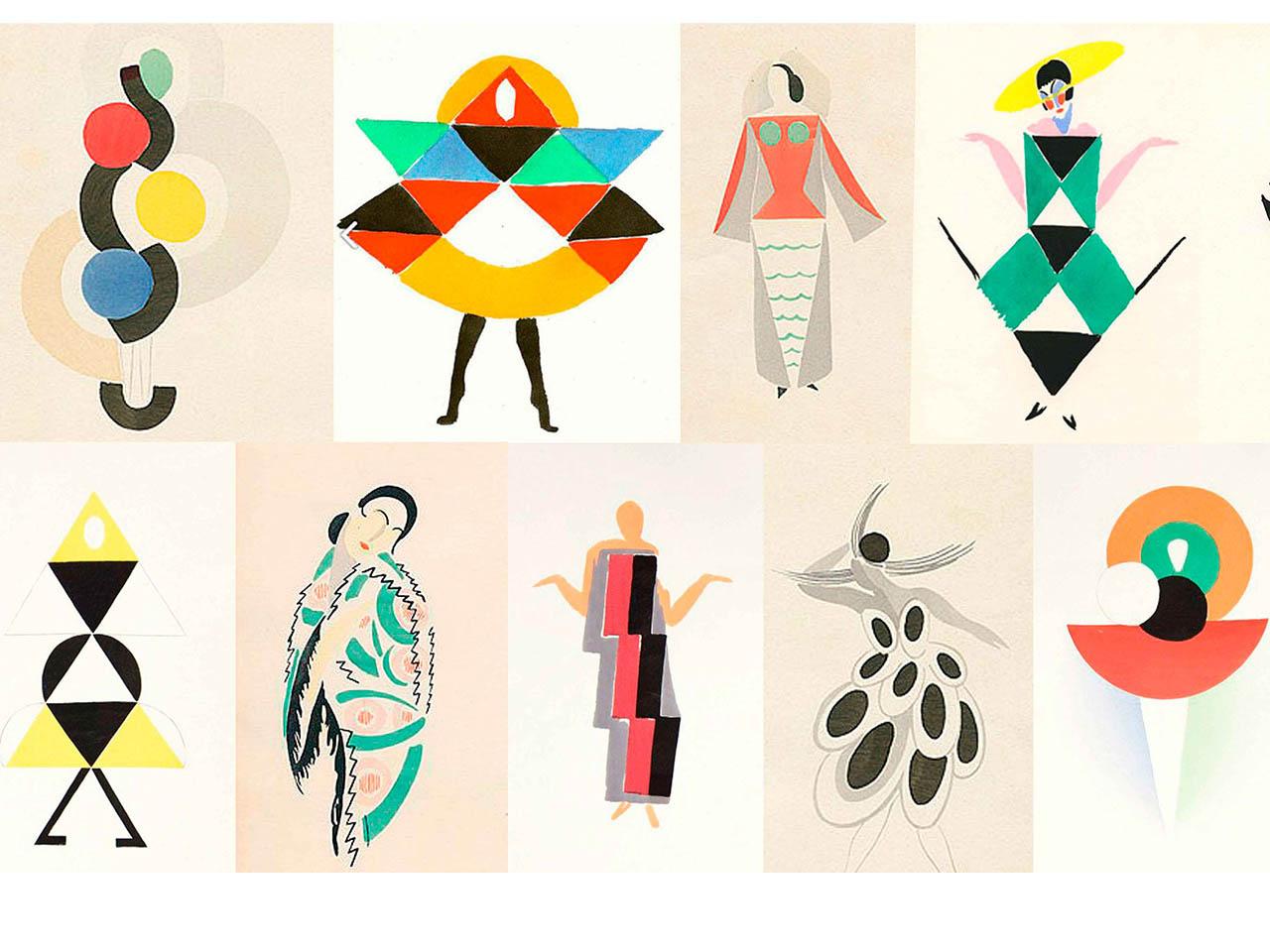 Sonia Dalaunay<br> Figurines de moda