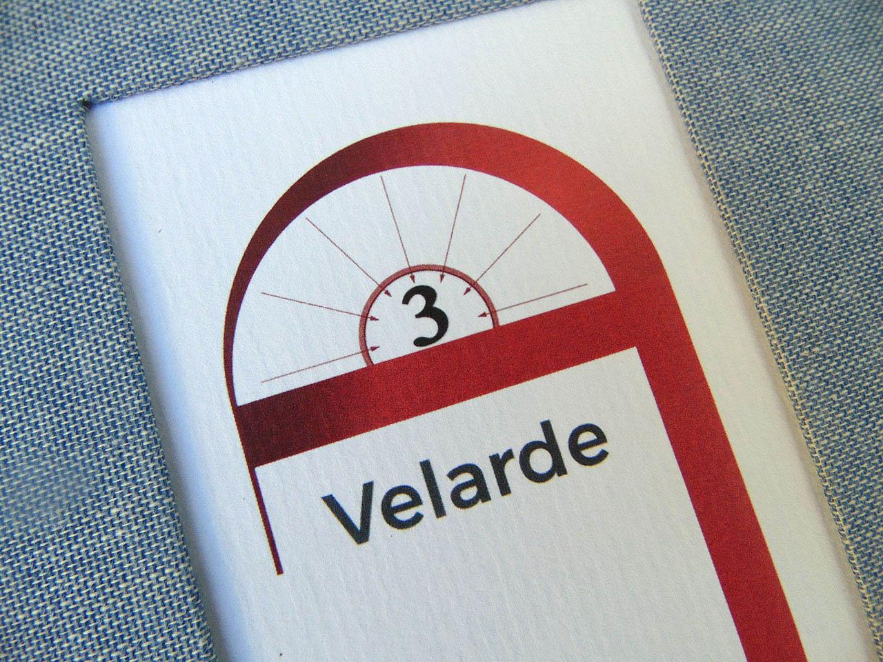 Logotipo Velarde 3 <br>en bajorelieve