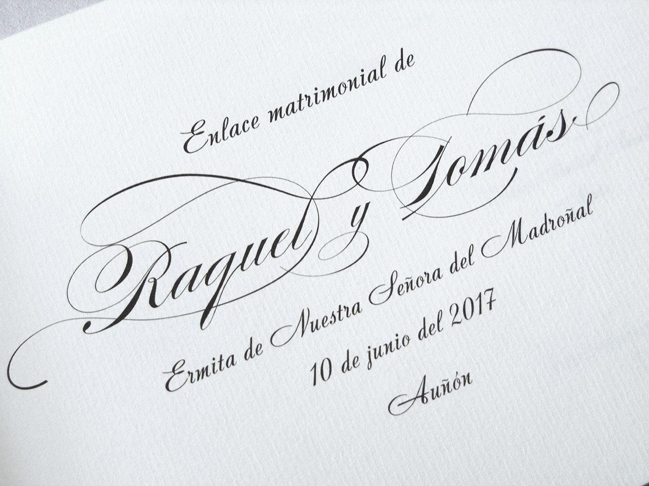Libro de testigos tipografía Andantino.